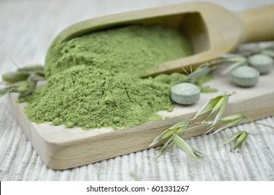 green barley chlorella