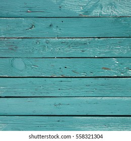 Green Barn Wooden Wall Planking Square Texture. Old Solid Wood Slats Rustic Shabby Frame Background. Paint Peeled Grungy Weathered Isolated Surface. Faded Natural Wood Board Panel Structure