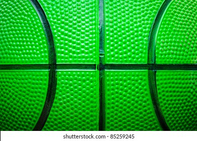 green basketball ball