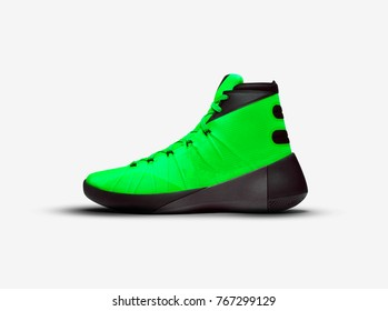 green basketball shoes