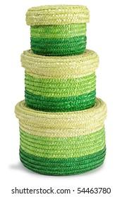 Green baskets.