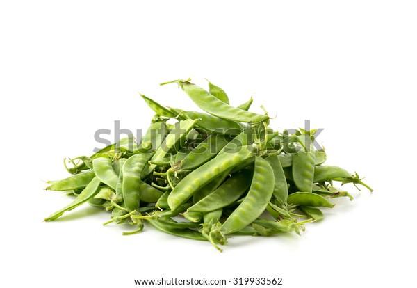 green bean on white background