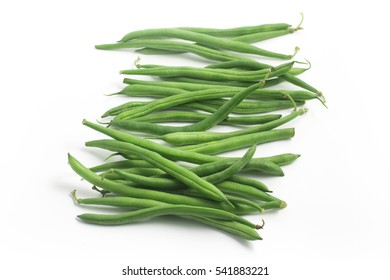 Green Beans Pods. Slim isolated on white background