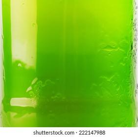 green beer bottle background close up