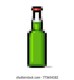 Green beer bottle pixel art