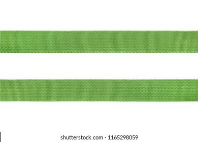 green belt strap nylon  solated on  white background with clipping path
