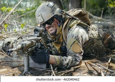 Green Beret in action
