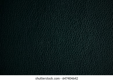 Green black leather texture background