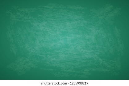 Green blackboard. Design rubbed out dirty chalkboard. Textural background