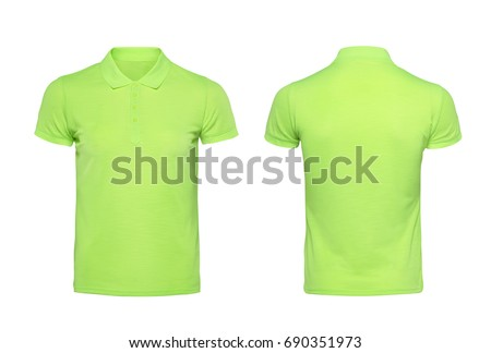 green blank t shirt template isolated の写真素材 今すぐ編集