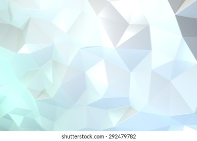 Green and blue abstract crystal background