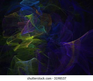 green and blue fractal background