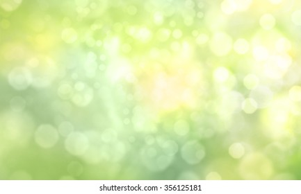 Green blurred bokeh background illustration