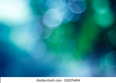 green bokeh abstract light background