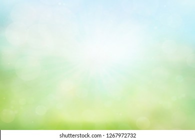 green bokeh from summer green background