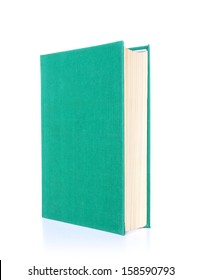 Green book, isolated on white background