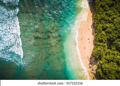 Green bowl beach, Bali, Indonesia.
