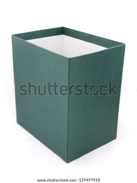 green box isolated in white background