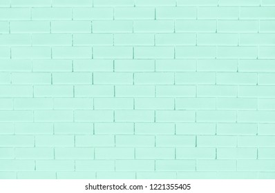 Green brick wall textured background