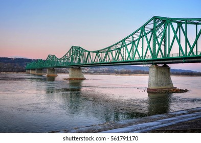 Green bridge on Vistula River in Wloclawek