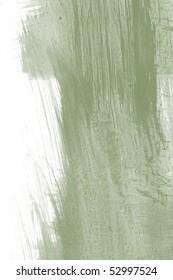 green brushstroke isolated on white background