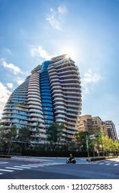 Green Building-TAO ZHU YIN YUAN.With a carbon absorbing Vertical Forest building.2018/10/21 Taipei,Taiwan.