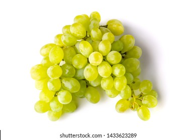 Green bunch of grape on white background