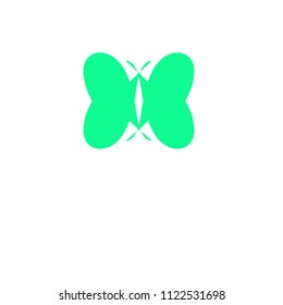 Green butterfly icon useful for blogs/icons/logos/business