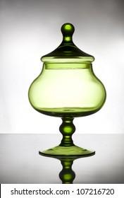 Green candy jar