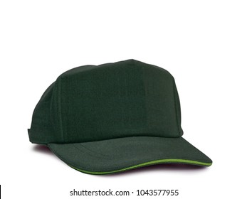 green cap isolated on white background. (clipping path)