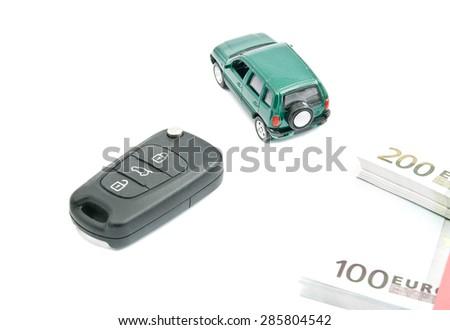Green Car Black Car Keys Euro Stock Photo Edit Now 285804542
