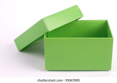 Green cardboard box