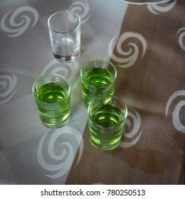 Green chacha shots