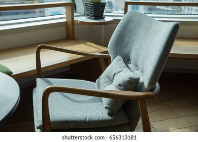 green chair with natural light
