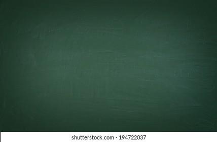 A green chalkboard