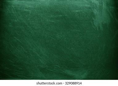 Green chalkboard. Green background