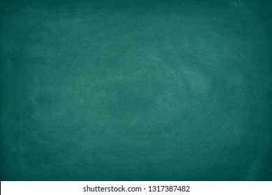Green Chalkboard. Chalk texture school board display for background. chalk traces erased with copy space for add text or graphic design. Backdrop of Education concepts