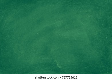 Green Chalkboard texture for school display backdrop. chalk traces erased with copy space for add text or graphic design background. Education concepts