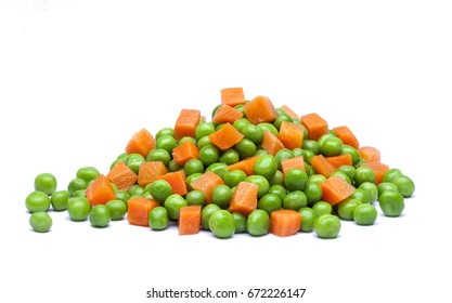 Green chicks and carrots in boxes with shadow on white background