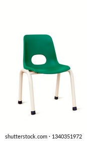 green children chair, isolated on white