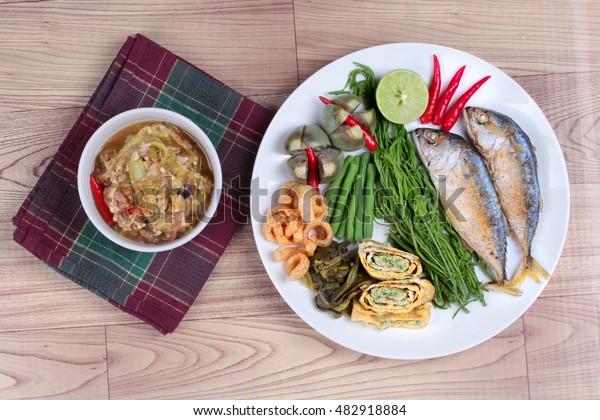 Green Chili Dip Nam Prik Num Stock Photo Edit Now 482918884