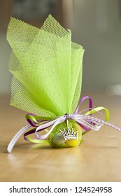Green Christening Favor.