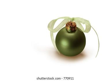 Green Christmas bulb.