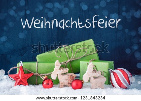 Weihnachtsfeier Sketch Ideen.Green Christmas Gifts Bokeh Weihnachtsfeier Means Stock Photo Edit