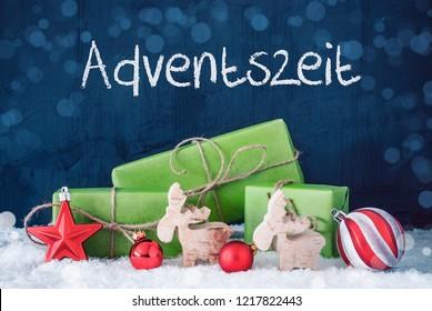 Green Christmas Gifts, Snow, Decoration, Adventszeit Means Advent Season