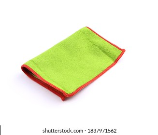 Green Cleaning cloth. Microfiber glass cloth. Microfiber cleaning towel