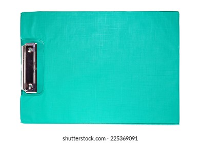 Green Clip board  isolated over white background.