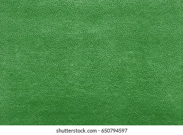Green color leather texture Color background and texture