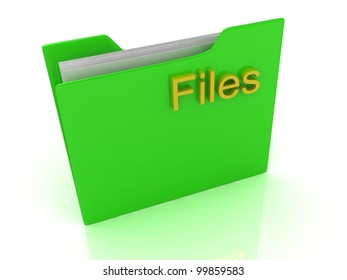 Green Computer folder, yellow sign files