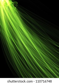 Green Cosmic Feather